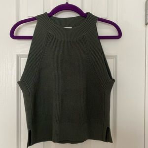 Aritzia Wilfred crevier knit crop top; medium